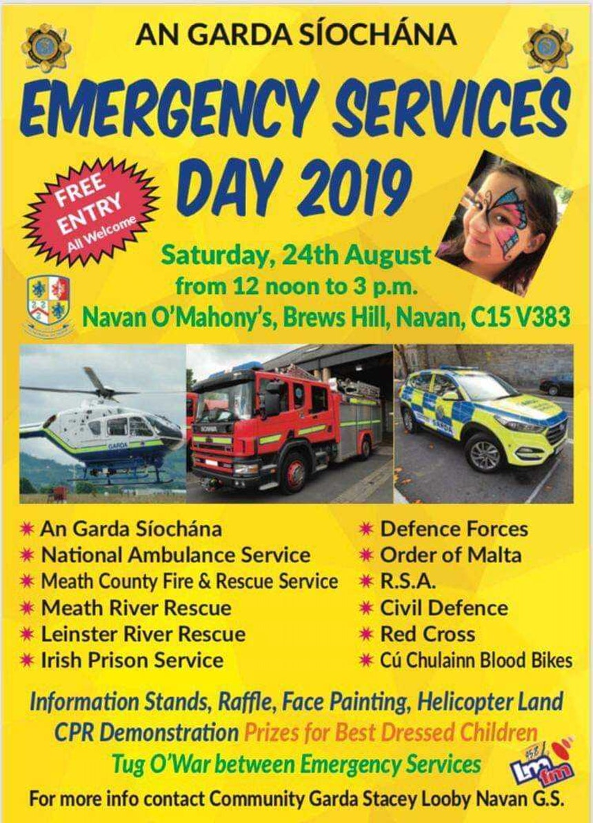 Emergency services day poster