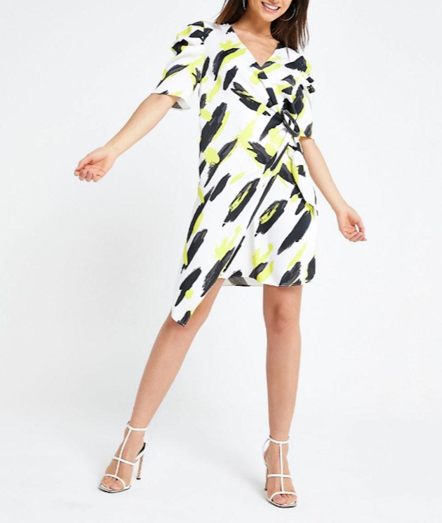 River Island Printed Wrap Dress