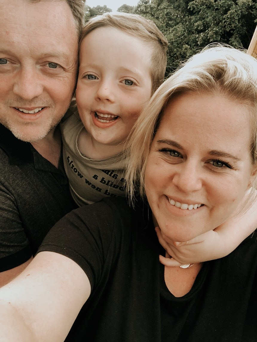 Lili Forberg and her family