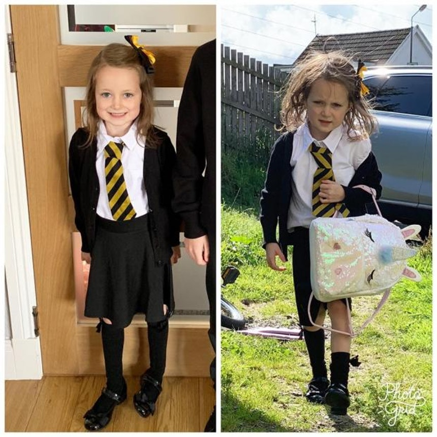 Lucie back to school photo.