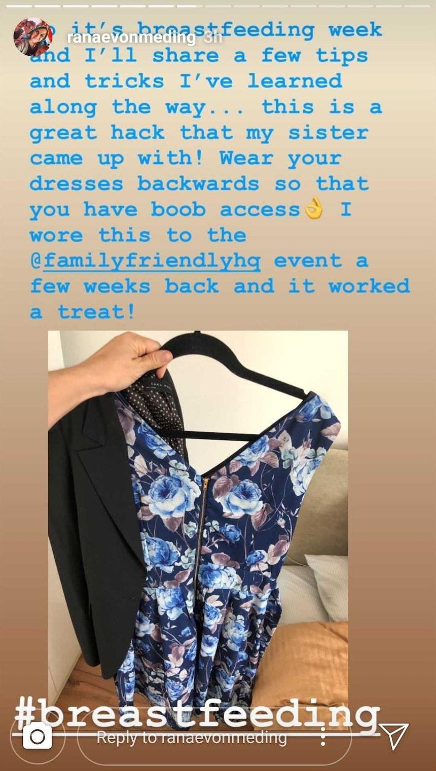 Ranae von Meding breastfeeding fashion hack
