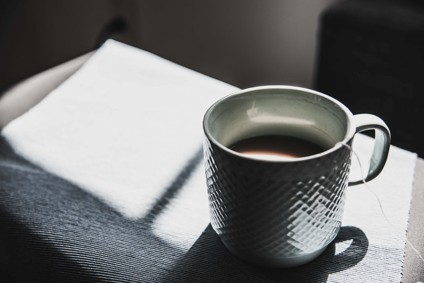 Cup on desk